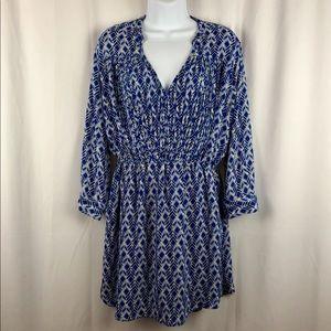 Maeve minidress/tunic long sleeve pockets M
